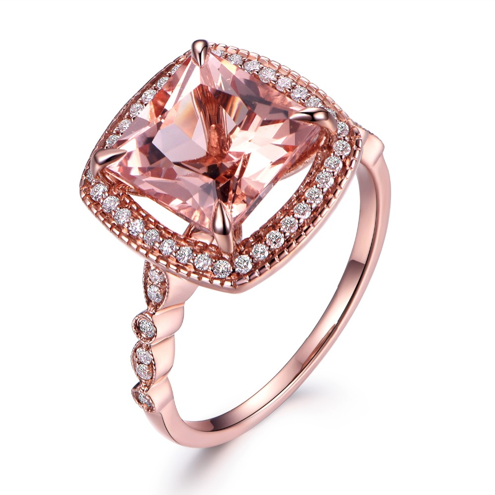 ring made gold stone size through order rings media quartz nugget crystal raw gemstone to rough natural rose pink
