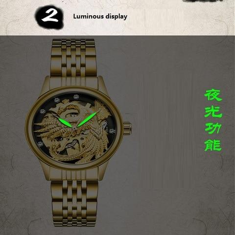 TEVISE Luxury Brand Fashion Phoenix Women Watches Luminous Clock Womens Steel Gold Bracelet Automatic Mechanical Ladies Watch Multan