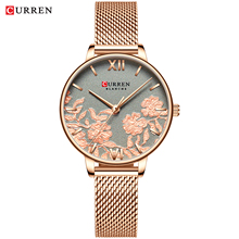 CURREN Women Watches Luxury Wrist watch relogio feminino Clock for Milanese Steel Lady Rose Gold Quartz Ladies Watch New