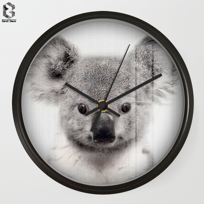 Chic Art Wall Clock Koala For Kids Room Wall Decor, Table Decorative Mute Quartz Clocks  ...