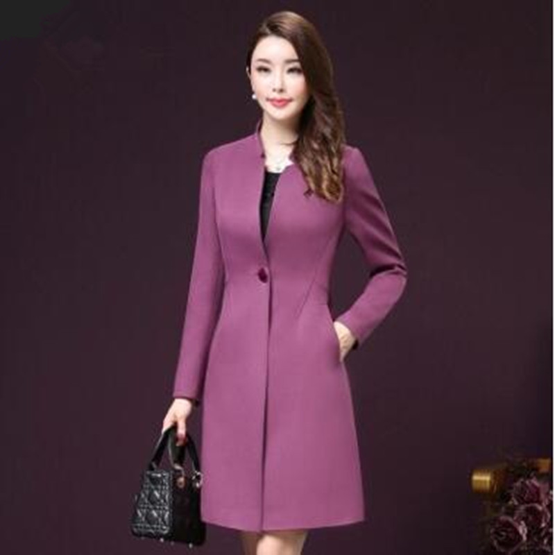 Women s long coat single breasted fashion large size women s clothing