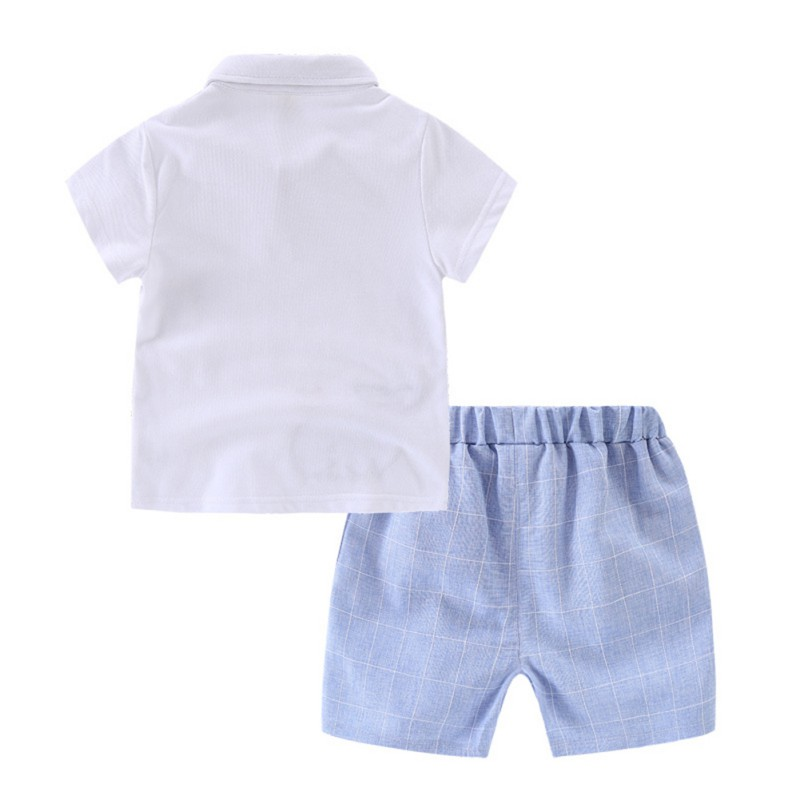 2Pcs/set Boy Clothing Sets Children Boys Cute Animal Print Short Sleeve Shirt with Pocket Shorts Toddler Cotton Outfits Sets
