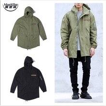 Mann si tun herren jacken und mäntel clothing koreanische kleidung militaire herbst schwarz grün lange army military m51 jacke windjacke
