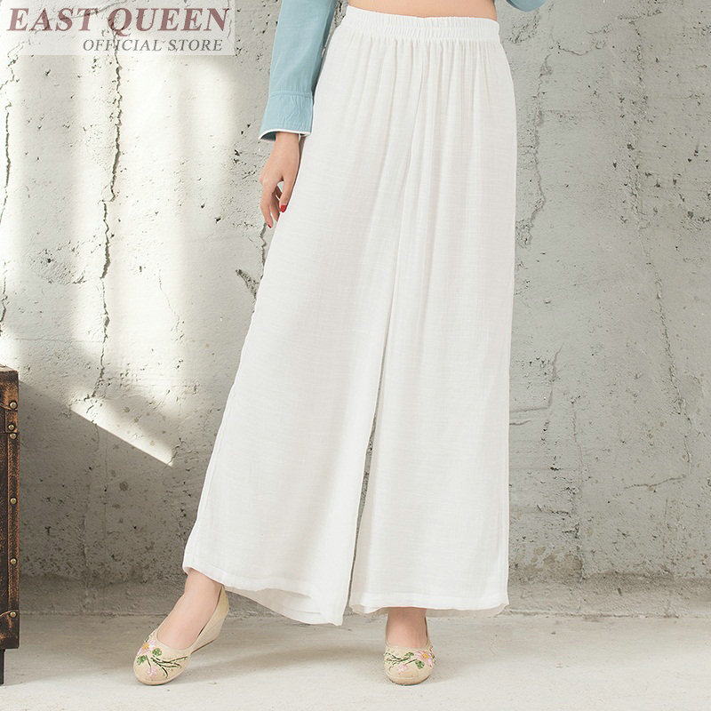 Palazzo culotttes femme white   wide     leg     pants   women female loose baggy ladies elegant   pants   trousers AA3511