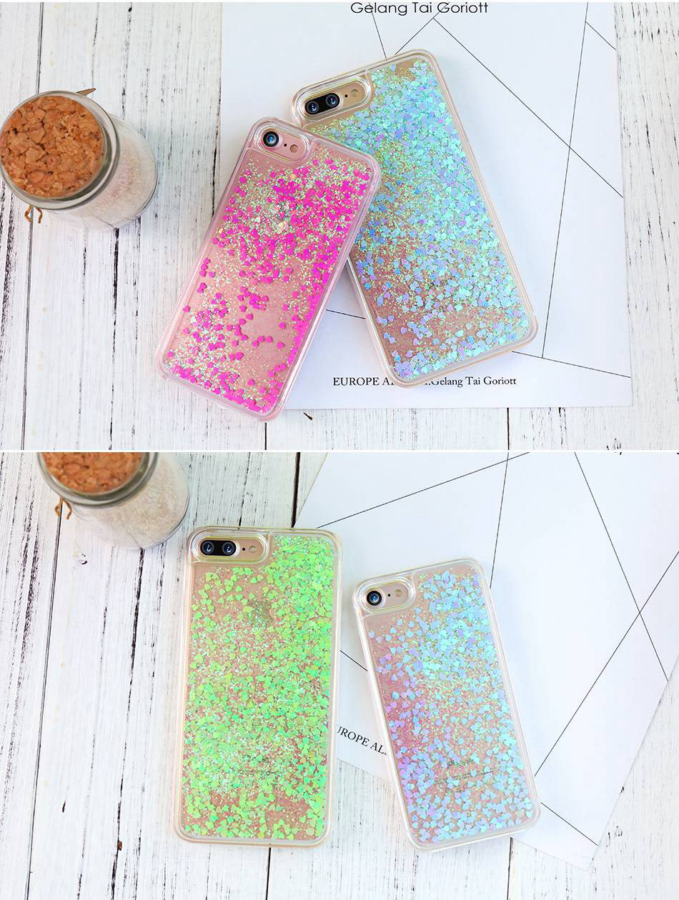 Glitter Quicksand For iPhone 6 6S 7 Plus 5 5S SE 4S Case For Samsung S6 S7 Edge Plus S5 S4 A5 A7 2016 G530 Note 4 5  (4)