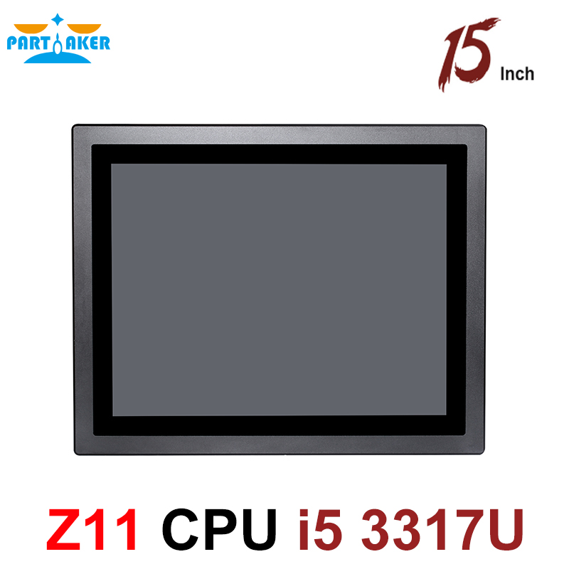 Partaker Z11 Intel Core i5 3317U Processor 15 Inch LED IP65 Industrial Touch Panel PC All in One Computer
