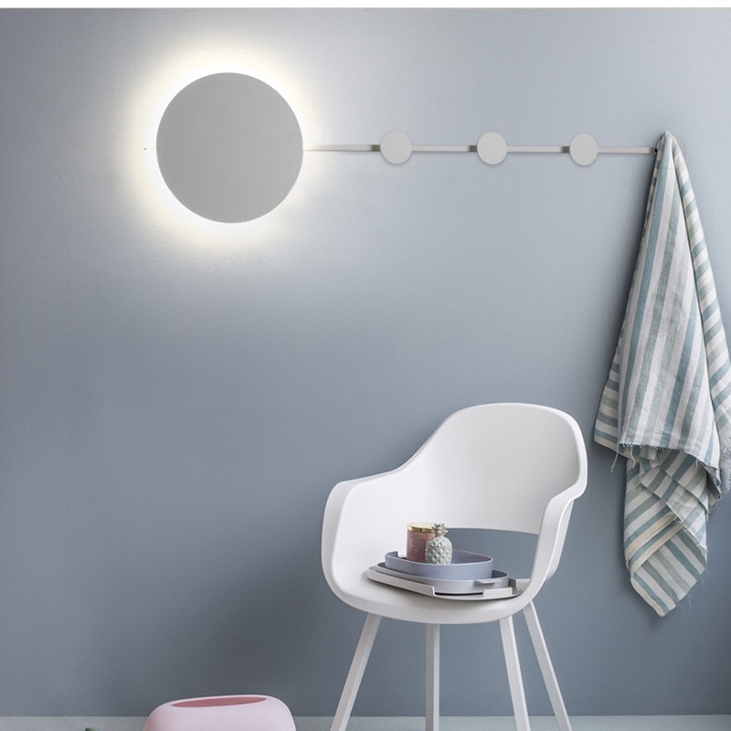 HAWBOIRRY LED Nordic simple retro indoor lighting home kitchen living room study bedroom bedside stairs corridor hook wall lamp in Wall Lamps from Lights Lighting