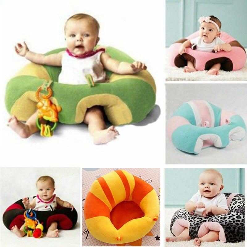 Kids Baby Support Seat Soft Chair Cushion Sofa Plush Pillow Bean Bag Sitting Toy  0-2 Year