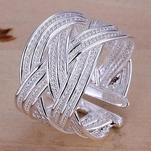 Women's Fashion Silver Plated Claw Ring Woven Mesh Style Jewelry Gift US 8