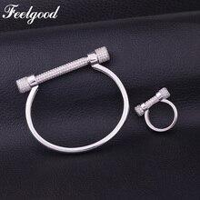 Айболит известная марка ювелирных изделий Роскошные Мирко проложить параметр кубического циркония ювелирный браслет и кольцо Наборы
