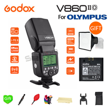 Paypal Accpect, Godox V860II-O TTL GN60 2.4G High-Speed 1/8000s 2000mAh Li-on Battery Wireless Camera Flashs light for Olympus