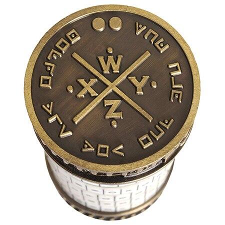 Cryptex rétro cadeaux d'anniversaire créatifs Da Vinci Code serrure Mini Da Vinci Code Cryptex serrure jouet puzzle innovant cadeau - 3
