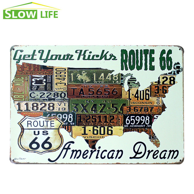 Excellent Old Fashioned Route 66 Wall Decor Elaboration - Wall Painting  VY16