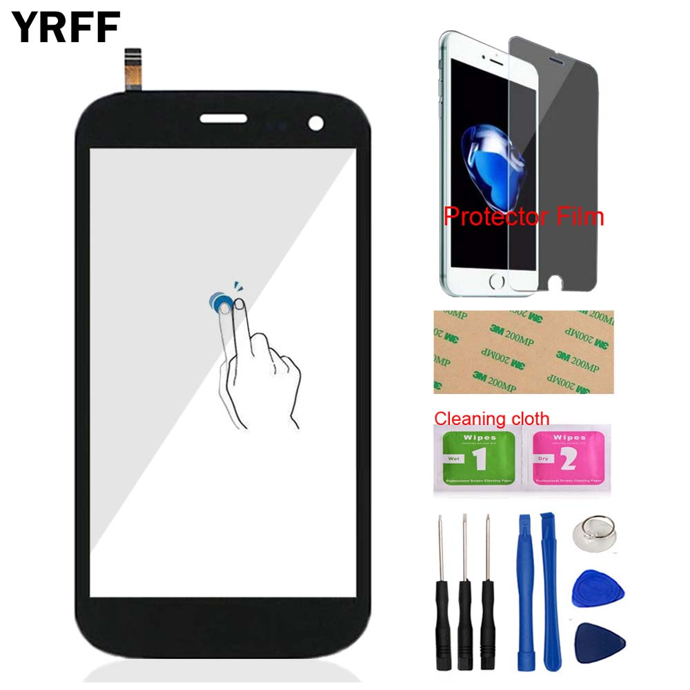 5.0'' Mobile For Explay X-tremer X Tremer Front Touch Screen Touch Digitizer Panel Glass Lens Sensor + Protector Film Adhesive