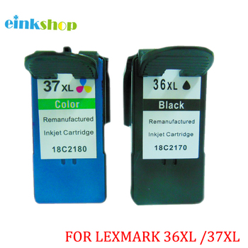 einkshop 2pcs For Lexmark 36 37 36xl 37xl Ink Cartridges 18C2170  18C2180 X3650 X4650 X5650 X6650 X6675 Z2420 for