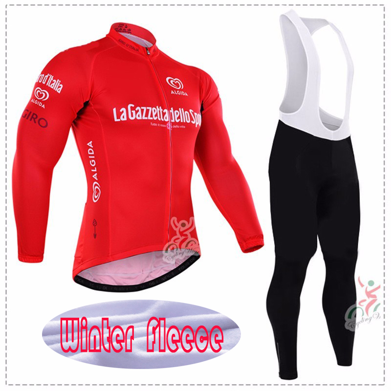 2017 Brand Men Winter Thermal Fleece Pro Team Long Sleeve Cycling Jersey Ropa Ciclismo Anti-Shrink Cycling Jersey bib Pant sets