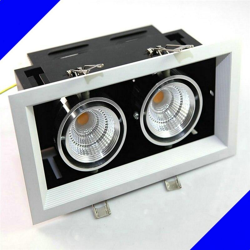 Двойной 2*10 Вт светодиодные светильники затемнения светодиодный потолочный осмелился света AC85V-265V прожекторы теплый/холодный белый плафон ...