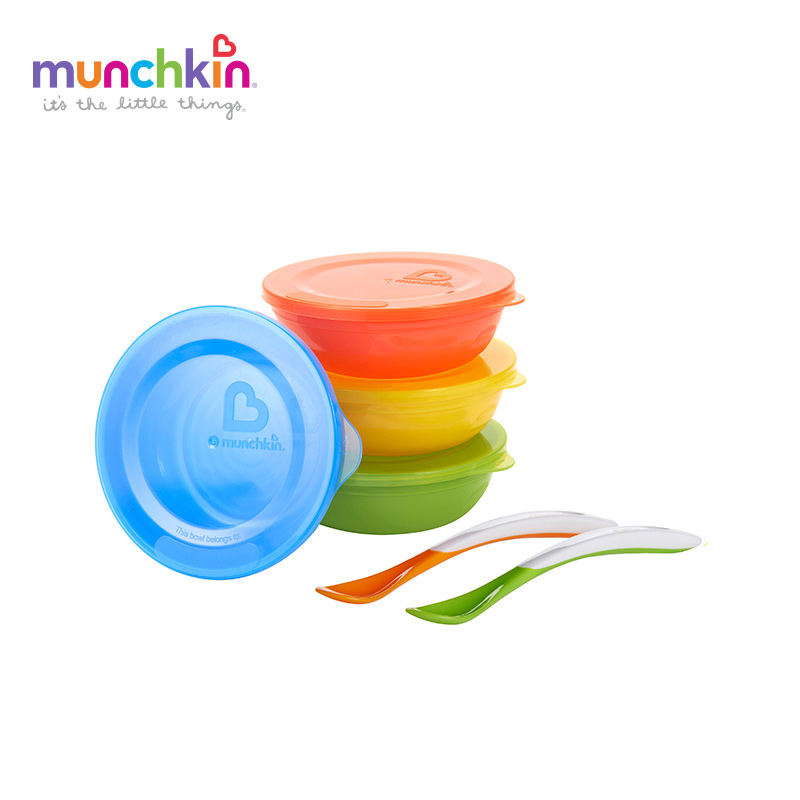 Munchkin baby Love a Bowls Feeding Set Baby Infants feeding Bowl set baby infant tableware BPA free