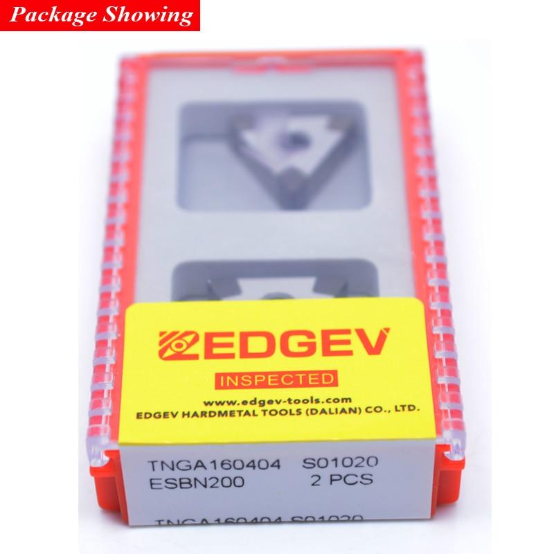 EDGEV 2 pezzi inserto in nitruro di boro nitruro di CBN TNGA160404 - Macchine utensili e accessori - Fotografia 6