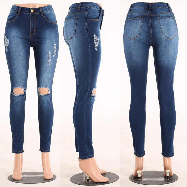 Hip-Lifting Jeans Vintage Style