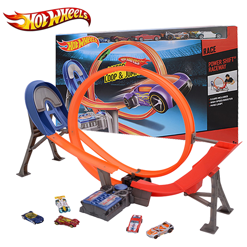 Hot Wheels Electric Car Track Plastic Matal Railway Vehicles Kid Toy brinquedo Educativo Hotwheels Track Classic Y3105 For Gift hot wheels sport car toy plastic track vehicles kid toys hot sale hotwheels cars track x2586 multifunctional classic boy toy car