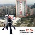 2017 Nuevo Telescopio 12.5X Zoom Teleobjetivo Lentes de Cámara Del Teléfono Trípode para el iphone samsung galaxy s3 s4 s5 s7 s6 edge plus casos