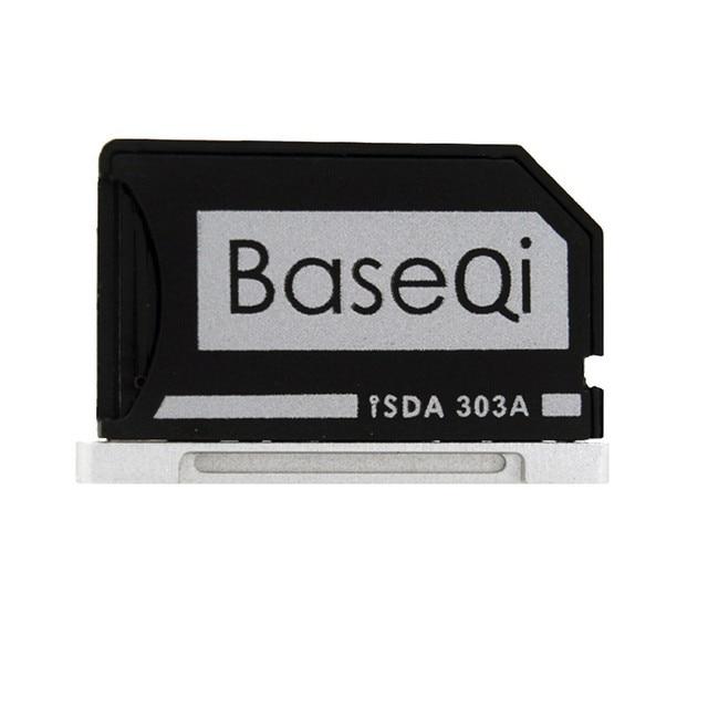Оригинал BASEQI Алюминиевый MiniDrive Карта Micro Sd Reader Для Macbook Pro Retina 13 ''Model 303A Адаптер Карт Памяти