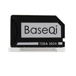 الأصلي BASEQI الألومنيوم مينيدريف مايكرو قارئ البطاقات SD لماك بوك برو الشبكية 13 ''نموذج 303A محول بطاقة الذاكرة