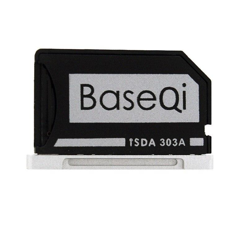 D'origine BASEQI Aluminium MiniDrive Micro SD Carte Lecteur Pour Macbook Pro Retina 13 ''Modèle 303A Carte Mémoire Adaptateur