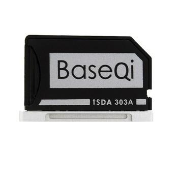 Original BASEQI de aluminio MiniDrive Lector de Tarjetas Micro SD para Macbook Pro Retina 13 modelo 303A Adaptador de Tarjeta de Memoria