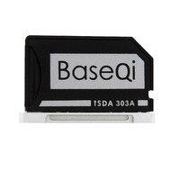 Promo Original BASEQI de aluminio MiniDrive Lector de Tarjetas Micro SD para Macbook Pro Retina 13 modelo 303A Adaptador de Tarjeta de Memoria