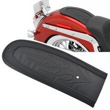 Мотоцикл кожа пламя заднее крыло Подушка Solo сиденье подходит для Dyna Fat Bob/Street Bob/Super Glide/Wide Glide