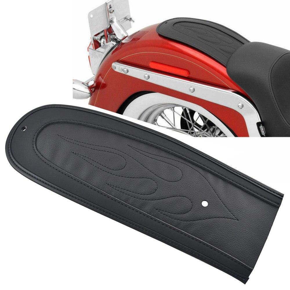 Мотоциклетное кожаное пламя заднее крыло нагрудник Подушка Solo Seat подходит для Dyna Fat Bob /Street Bob /Super Glide/Wide Glide