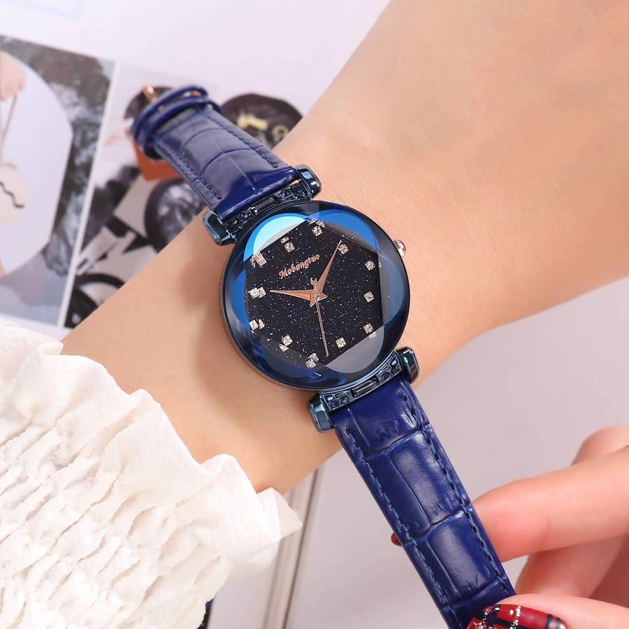Fashion Blue Ladies Watch Women Top Brand Luxury 2018 Women Watches Quartz Starry Sky Wrist Watches For Women Reloj Mujer