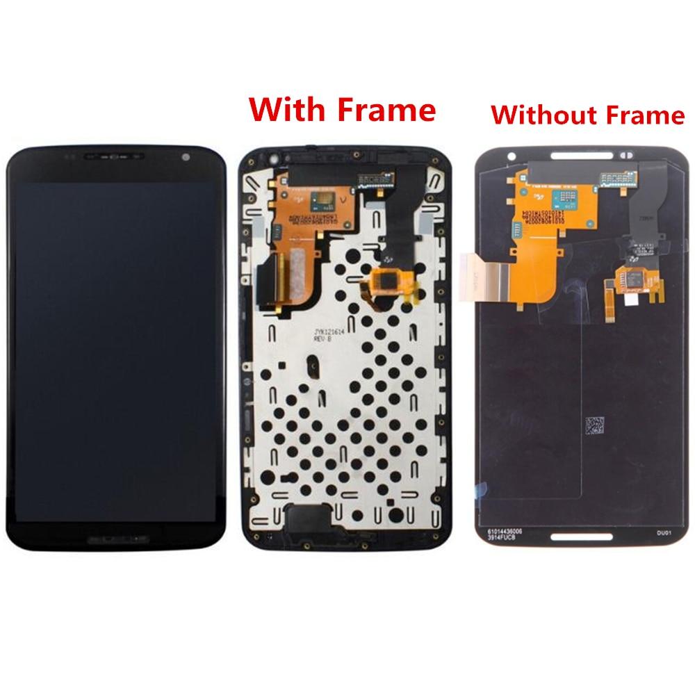 Pour Motorola Nexus 6 XT1100 XT1103 écran LCD et numériseur avec remplacement du cadre avant! (noir)