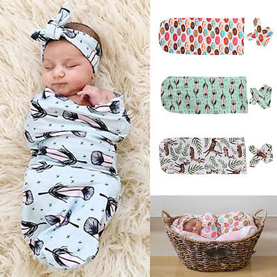 Cute Infant Newborn Baby Boys Girls Cute Blanket Swaddle Sleeping