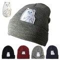 New skateboard ripndip Fashionable Knit Hats Men' and womens Hip-Hop Casual Middle finger Cat Jacquard Wool Warm Skullies cap