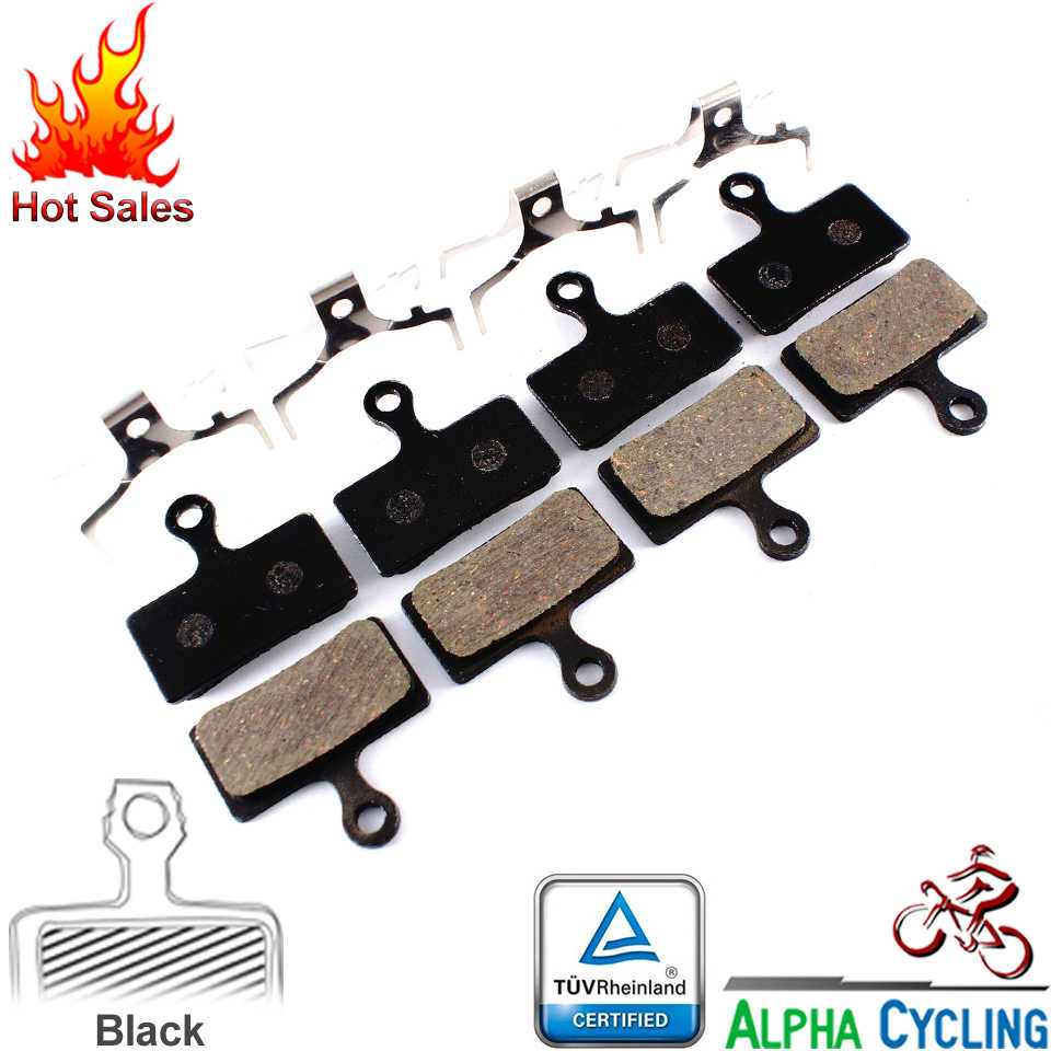 Pastilhas de freio de bicicleta para shiman g01s/f01a/j02, m9000, m8000, m985, m988, xt m785, slx m666, m675, deore m615, alfine s700, 4 pares