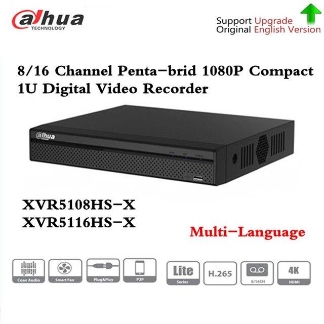 Компактный цифровой видеорегистратор DH XVR5108HS X 8/16, канал 1080P, 1U, поддержка CVI TVI IP видео для систем видеонаблюдения