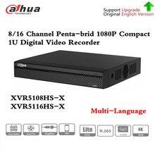 DH XVR5108HS X XVR5116HS X 8/16 canaux 1080P Compact 1U enregistreur vidéo numérique soutien CVI TVI IP vidéo pour système de vidéosurveillance