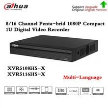 Dh XVR5108HS X XVR5116HS X 8/16 canais 1080p compact 1u digital gravador de vídeo suporte cvi tvi ip vídeo para sistema cctv