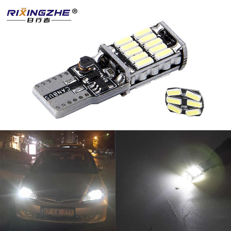 RXZ t10 w5w canbus car interior light 194 501 led 26 4014 SMD Instrument Lights bulb lamp dome light no error 12V 6000K
