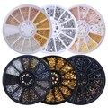 Color mezclado camaleón piedra uñas diamantes de imitación pequeñas cuentas irregulares manicura 3D decoración de uñas en accesorios de rueda