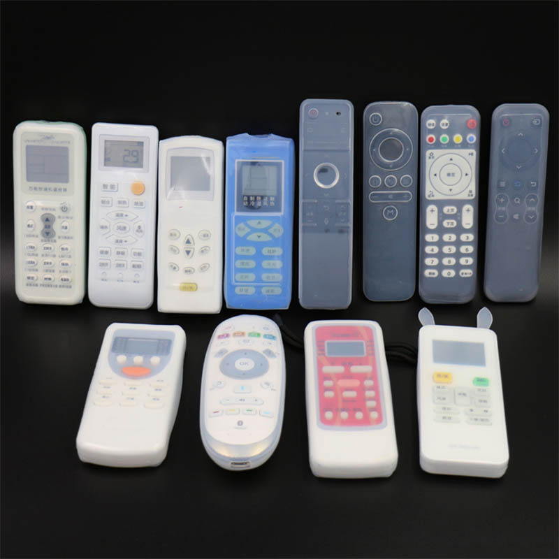 1pcs22 Size Silicone Transparent TV Remote Control Set Waterproof And Dustproof Storage Bag