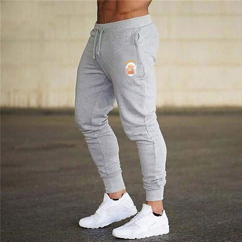 Mens Joggers Casual Pants Fitness Men Sportswear Tracksuit Bottoms Skinny Sweatpants Trousers gray Gyms Jogger Track Pants