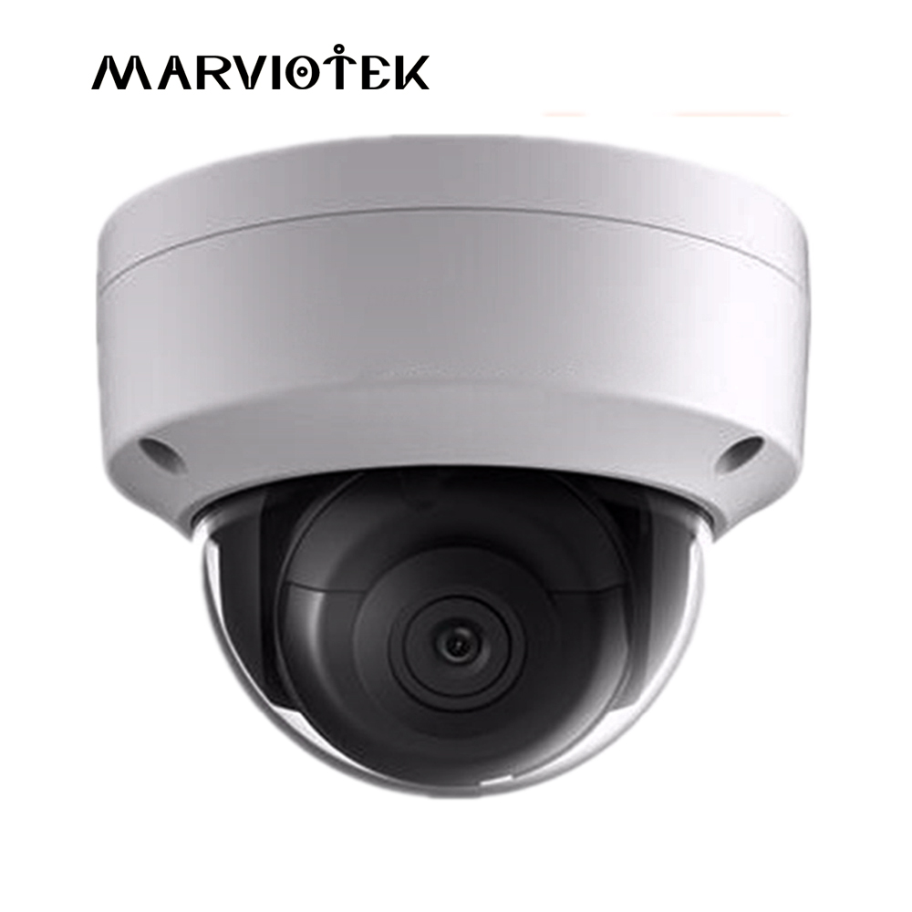 Full HD 8MP English version DS-2CD2185FWD-IS Network mini dome IP Camera face detection audio POE SD card H.265+ security camera