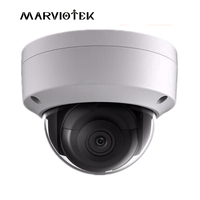 Full HD 8MP English Version DS 2CD2185FWD IS Network Mini Dome IP Camera Face Detection Audio