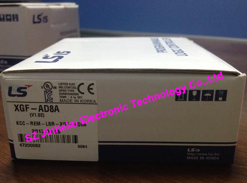 100% New and original  XGF-AD8A  LS(LG)  PLC  Analog input module 100% new and original g6l eufb ls lg plc communication module e net open type fiber optic