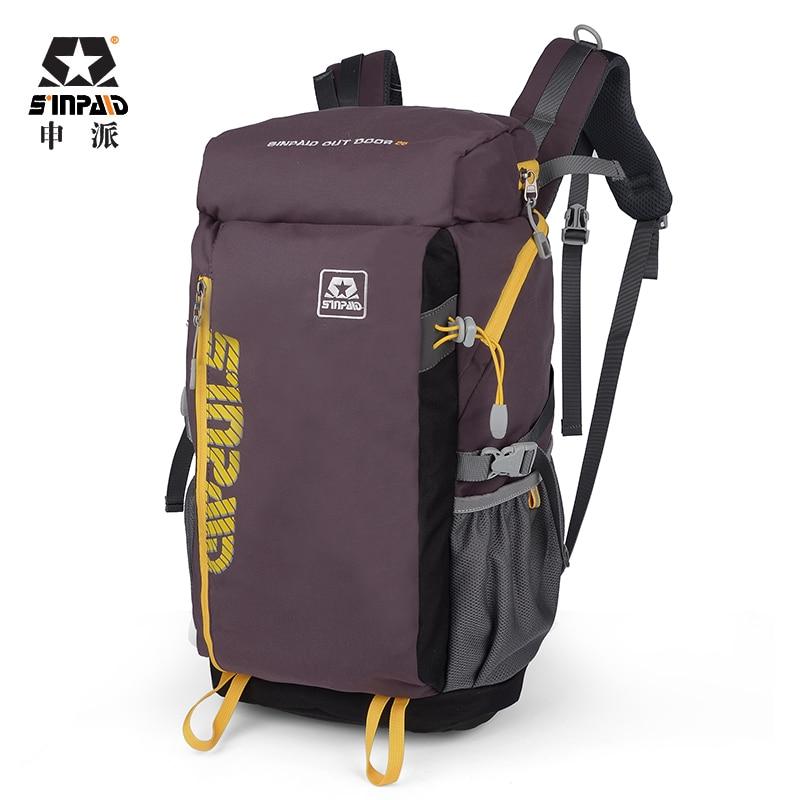 SINPAID Multifunktions bergsklättring Ryggsäck Vattentät Ryggsäck för ridning Tour Trip Casual Style Color Blå Khaki och Brown