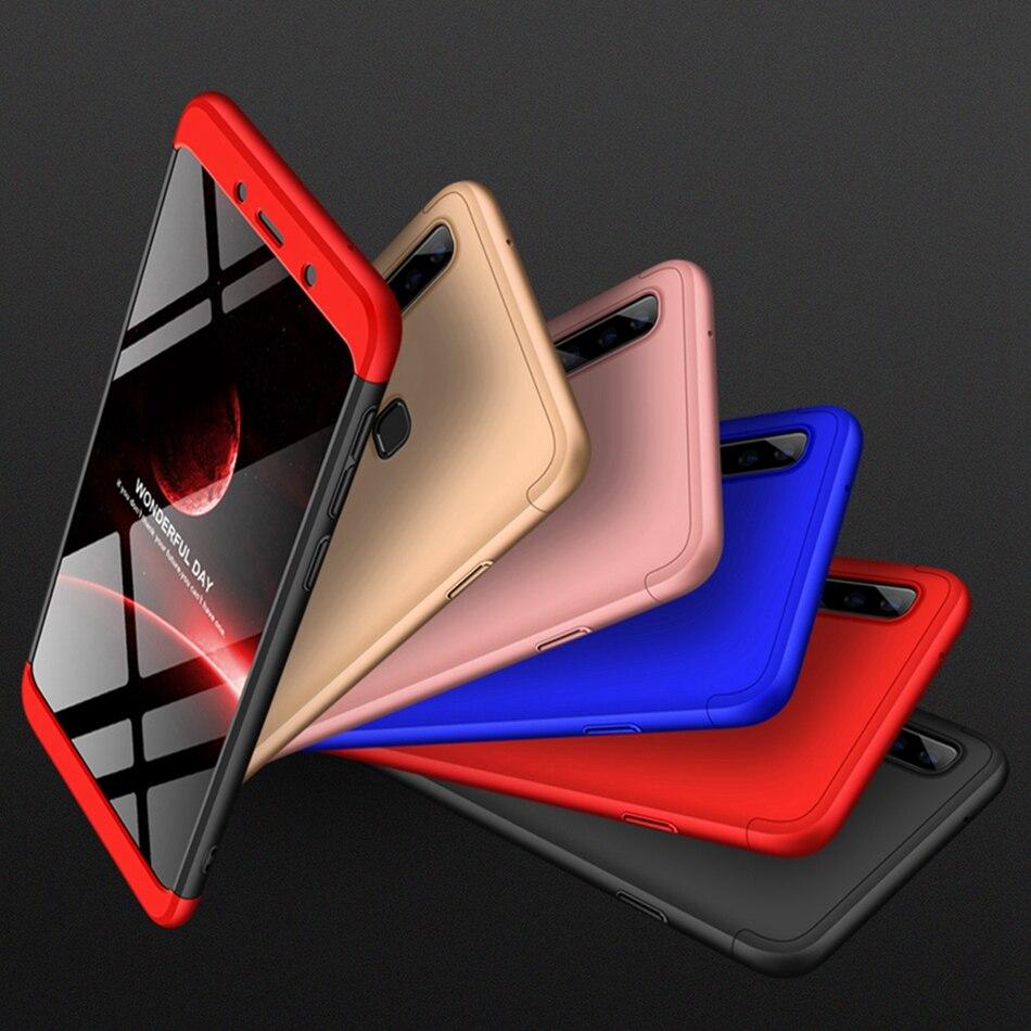 50 pièces 360 Degrés Couverture Complète Pour Samsung Galaxy A9 Star Lite A8 Plus A6 2018 J4 J6 J2 Pro J3 J5 J7 J8 Dur PC 3 En 1 coque de téléphone